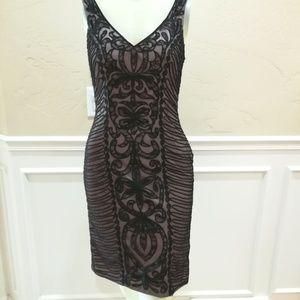 Sue Wong black lace dress